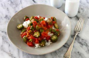 Sonoma farm Easy Southern Style Okra (made with Giardiniera) Recipe