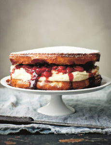 Sonoma Farm Raspberry Balsamic Sponge Cake Recipe