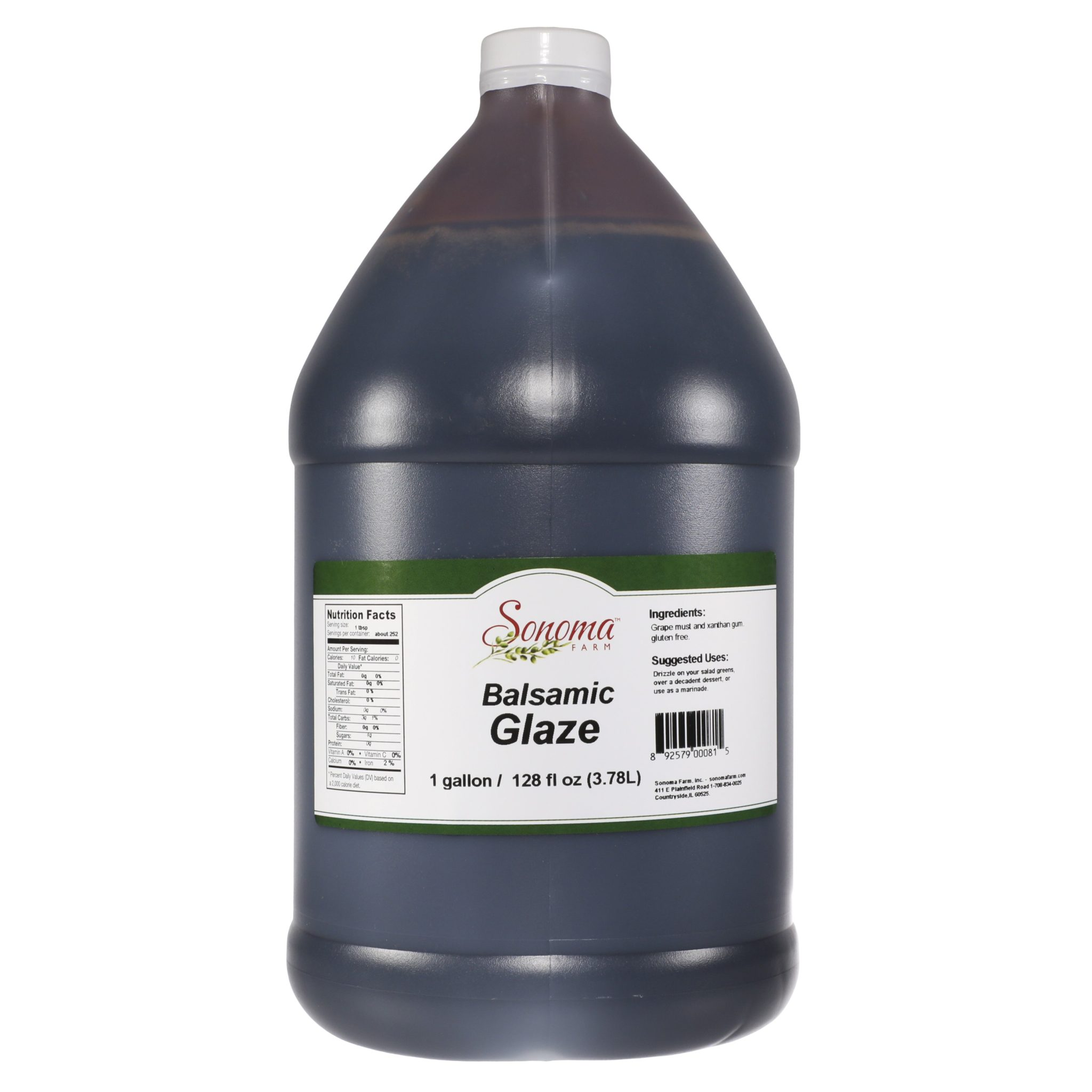 Balsamic Glaze 128oz 1 Gallon Bulk Food Service Sonoma Farm
