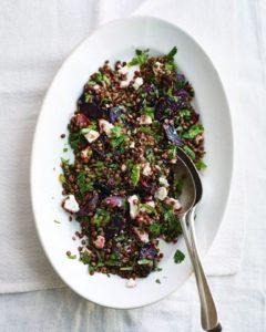Warm Beetroot Garlic Olive Oil Lentil Salad Recipe